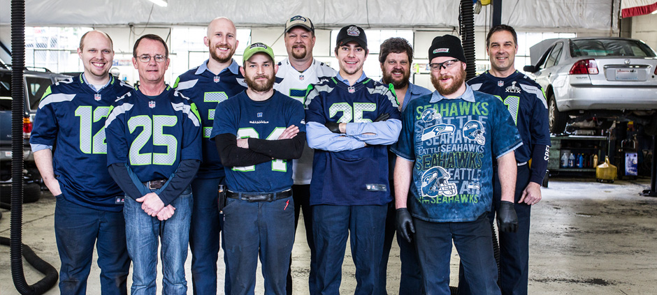 Jays Kirkland Autorepair Employees & Seahawks Fans